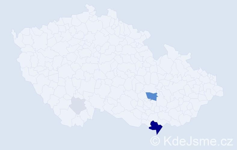 Příjmení: 'Brantalík', počet výskytů 18 v celé ČR