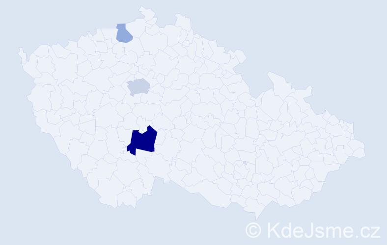Příjmení: 'Dědovská', počet výskytů 8 v celé ČR