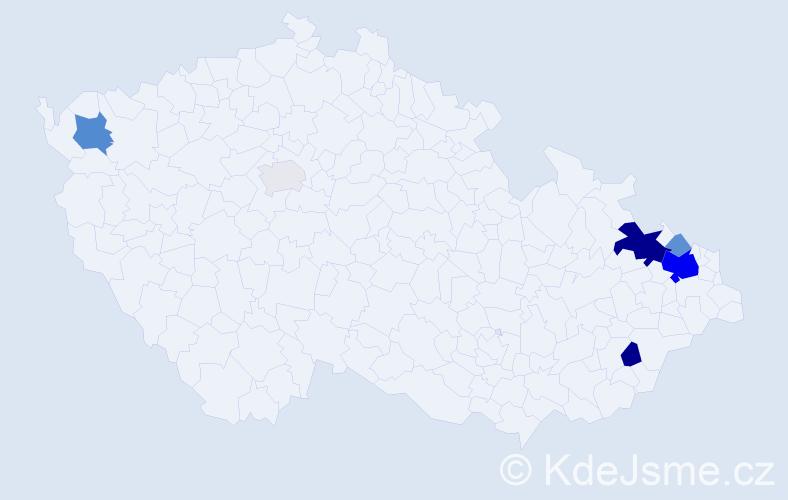 Příjmení: 'Galeja', počet výskytů 20 v celé ČR