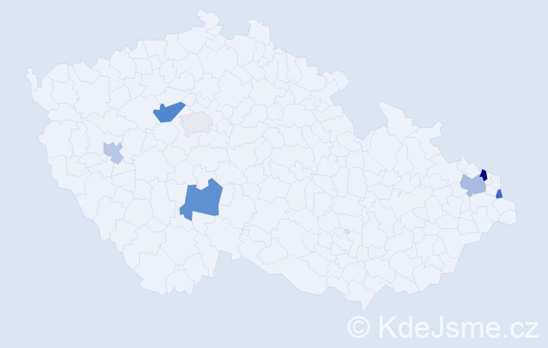 Příjmení: 'Fertö', počet výskytů 12 v celé ČR