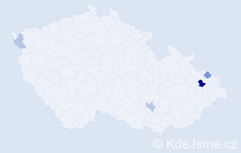 Příjmení: 'Hošický', počet výskytů 11 v celé ČR