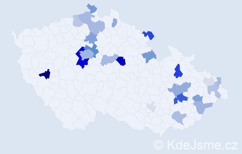 Příjmení: 'Davis', počet výskytů 48 v celé ČR