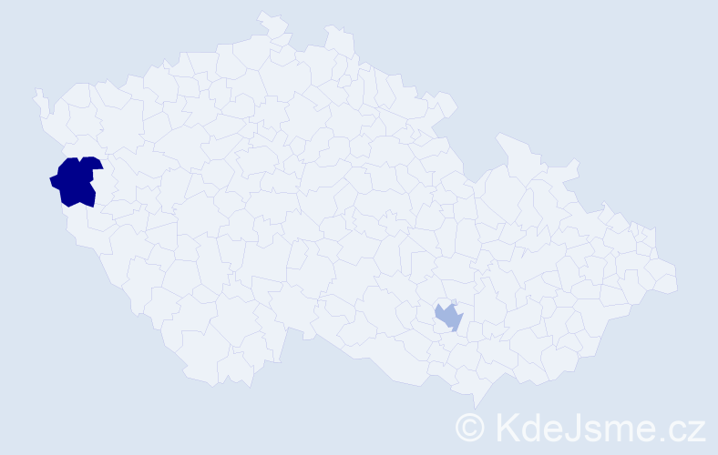Příjmení: 'Adamczik', počet výskytů 2 v celé ČR