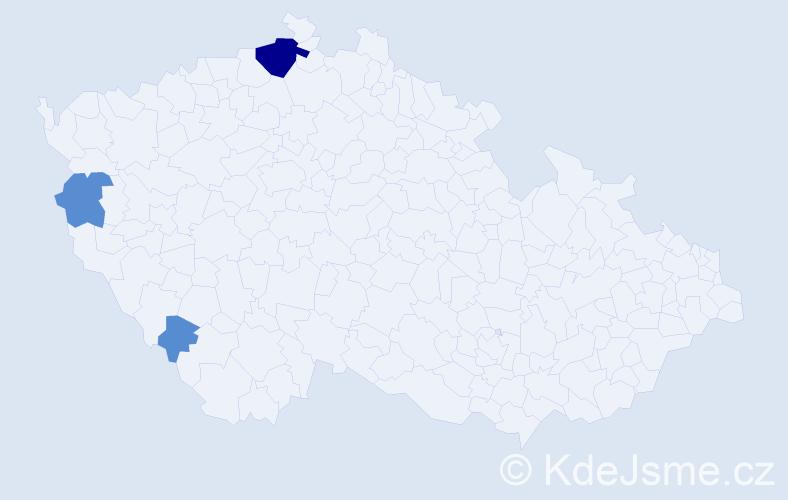 Příjmení: 'Kočegura', počet výskytů 12 v celé ČR