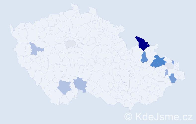 Příjmení: 'Arabaszová', počet výskytů 25 v celé ČR