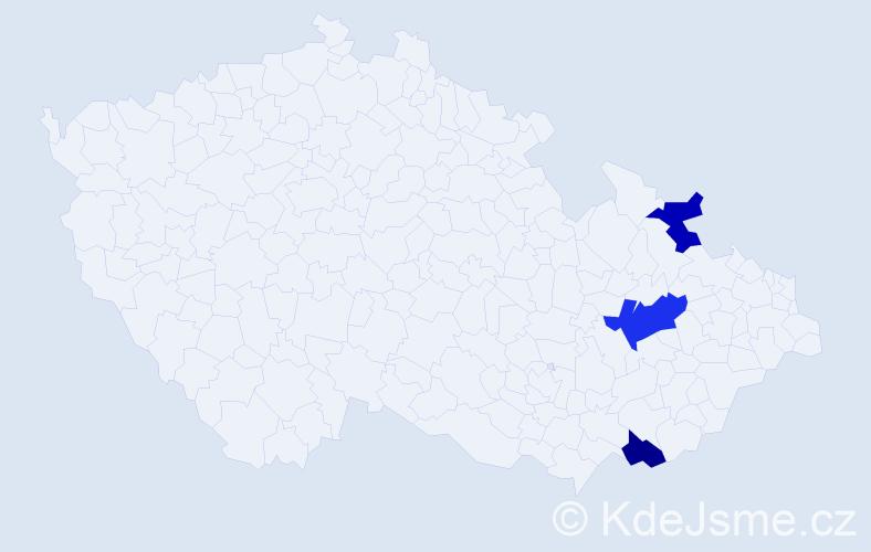 Příjmení: 'Bachlet', počet výskytů 4 v celé ČR