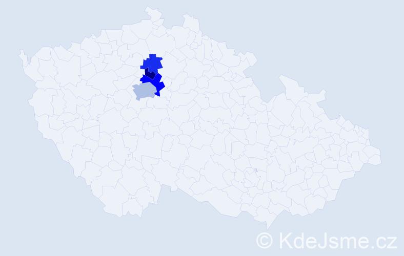 Příjmení: 'Klaubert', počet výskytů 7 v celé ČR