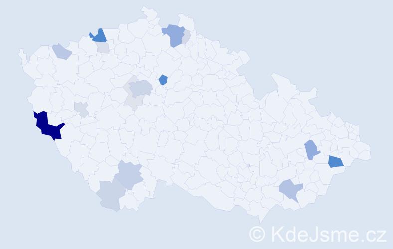 Příjmení: 'Kitzberger', počet výskytů 62 v celé ČR