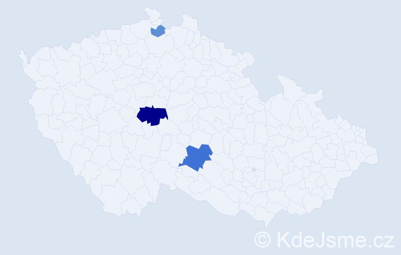 Příjmení: 'Fiantoková', počet výskytů 10 v celé ČR