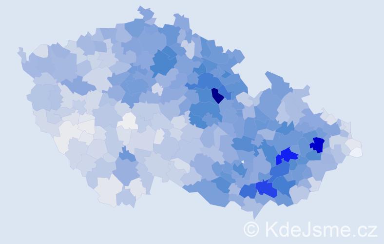 Příjmení: 'Horák', počet výskytů 12195 v celé ČR