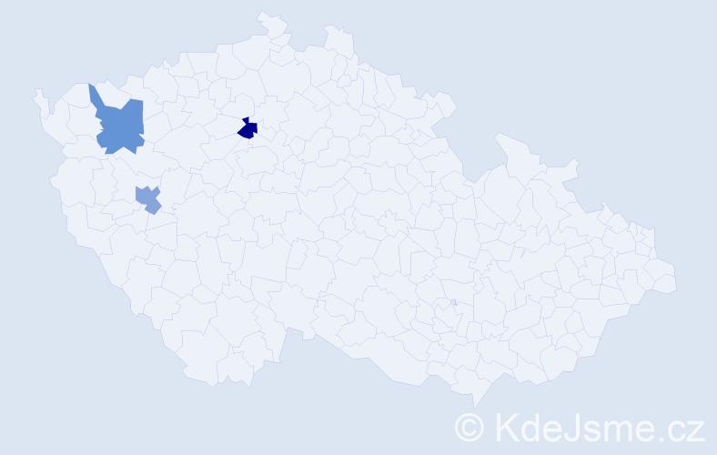 Příjmení: 'Harasiewiczová', počet výskytů 3 v celé ČR