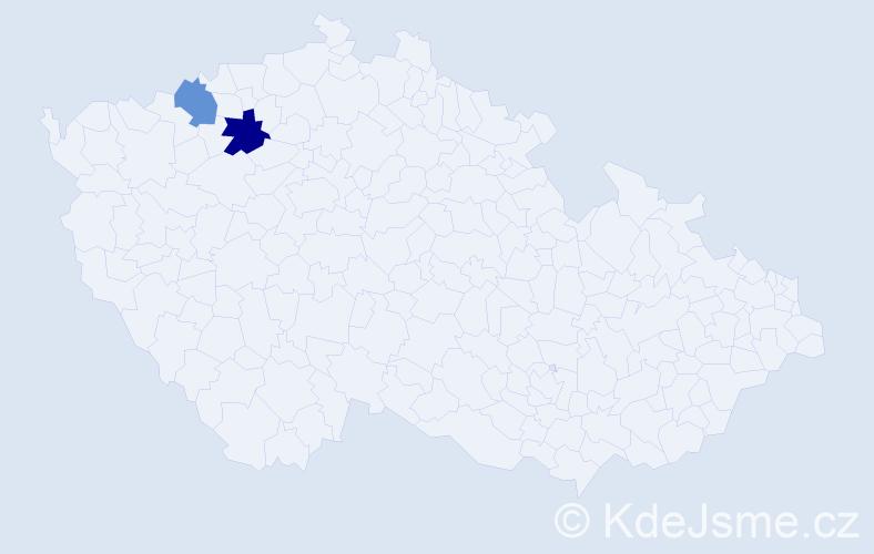 Příjmení: 'Gavronský', počet výskytů 5 v celé ČR