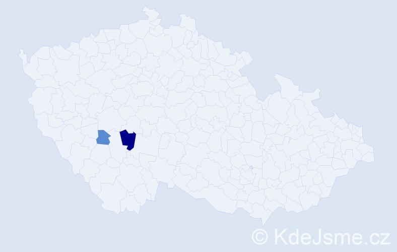 Příjmení: 'Iglauer', počet výskytů 4 v celé ČR