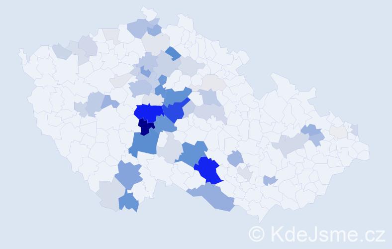 Příjmení: 'Jirovská', počet výskytů 221 v celé ČR