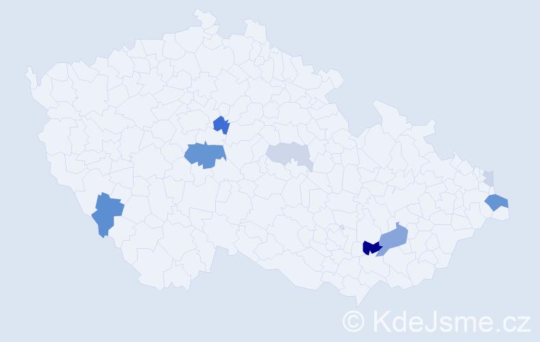 Příjmení: 'Kalfasová', počet výskytů 20 v celé ČR