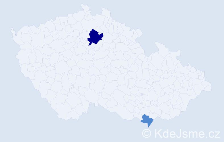 Příjmení: 'Hobľáková', počet výskytů 4 v celé ČR