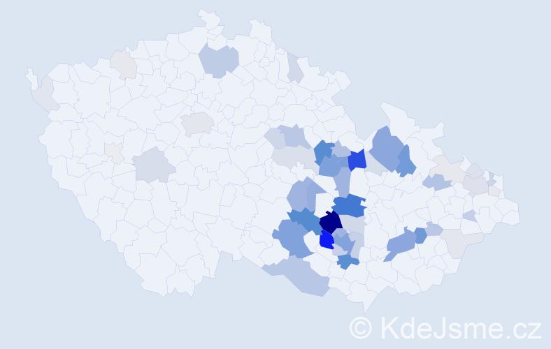 Příjmení: 'Dolníček', počet výskytů 213 v celé ČR