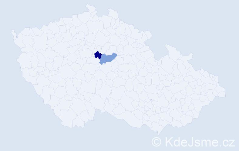 Příjmení: 'Čich', počet výskytů 2 v celé ČR