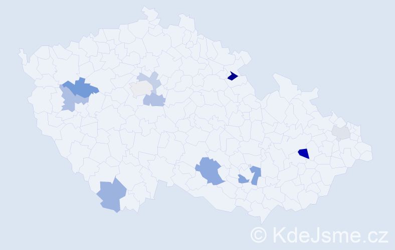 Příjmení: 'Drietomský', počet výskytů 15 v celé ČR
