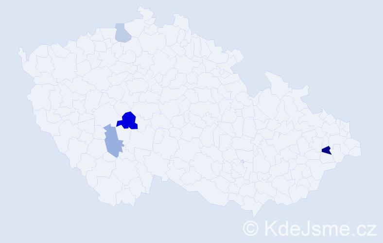 Příjmení: 'Grasblum', počet výskytů 6 v celé ČR