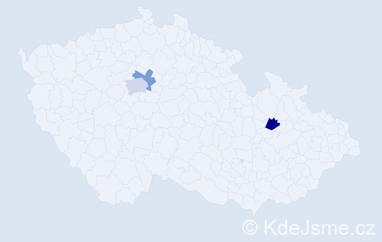 Příjmení: 'Gelná', počet výskytů 4 v celé ČR