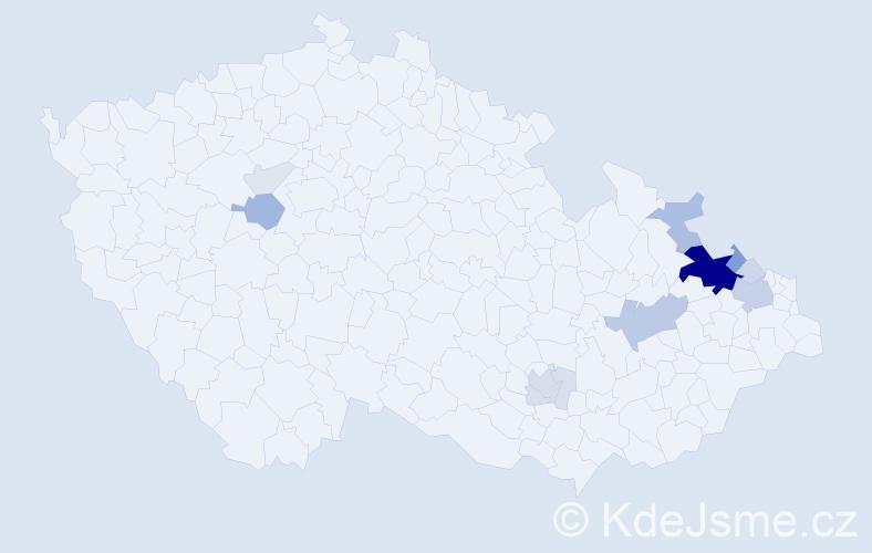 Příjmení: 'Galvasová', počet výskytů 52 v celé ČR