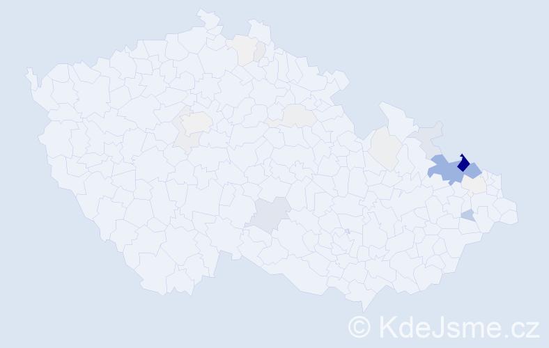 Příjmení: 'Harasim', počet výskytů 109 v celé ČR