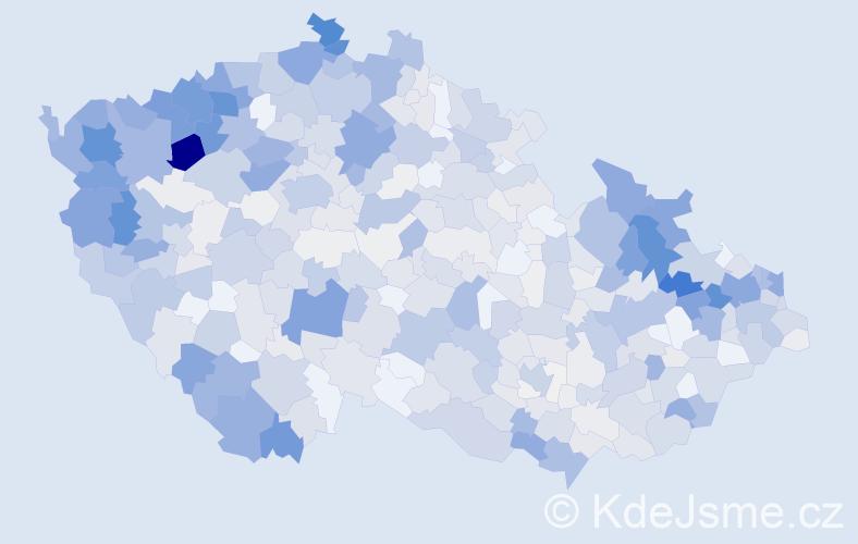 Příjmení: 'Kováč', počet výskytů 3257 v celé ČR