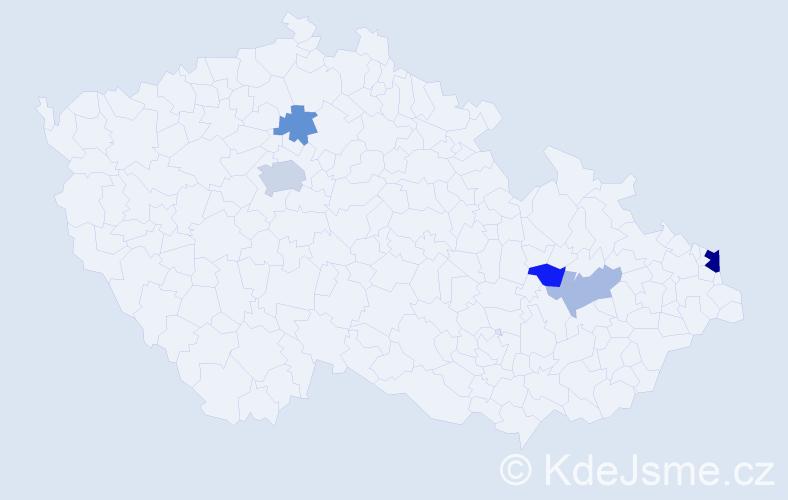Příjmení: 'Borgoň', počet výskytů 10 v celé ČR