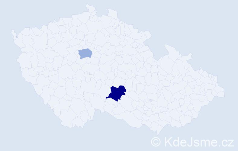 Příjmení: 'Erol', počet výskytů 5 v celé ČR