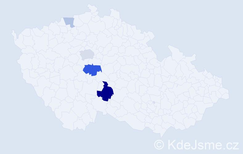 Příjmení: 'Kubarič', počet výskytů 11 v celé ČR