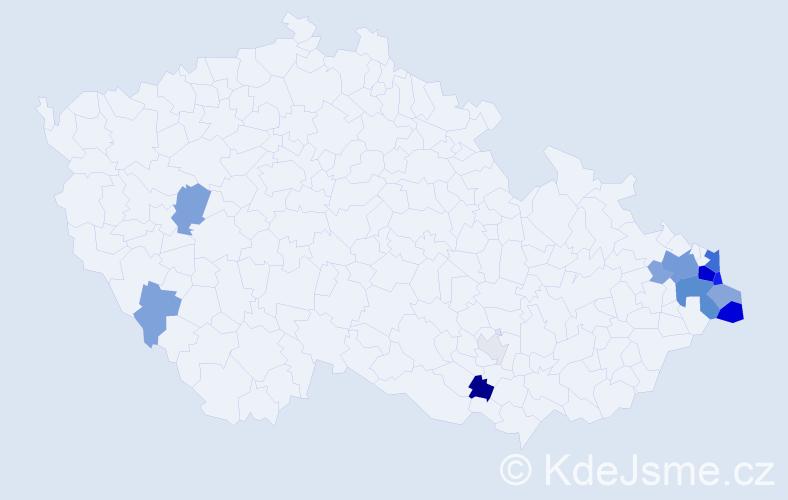 Příjmení: 'Ciompa', počet výskytů 48 v celé ČR
