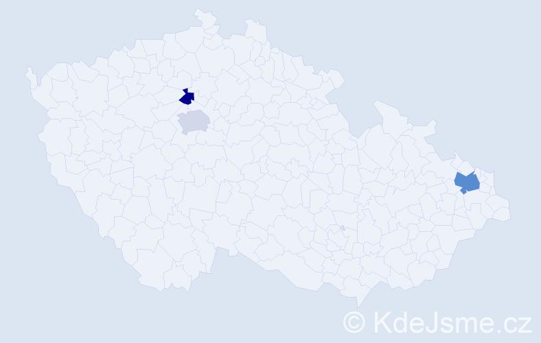 Příjmení: 'Husťáková', počet výskytů 11 v celé ČR
