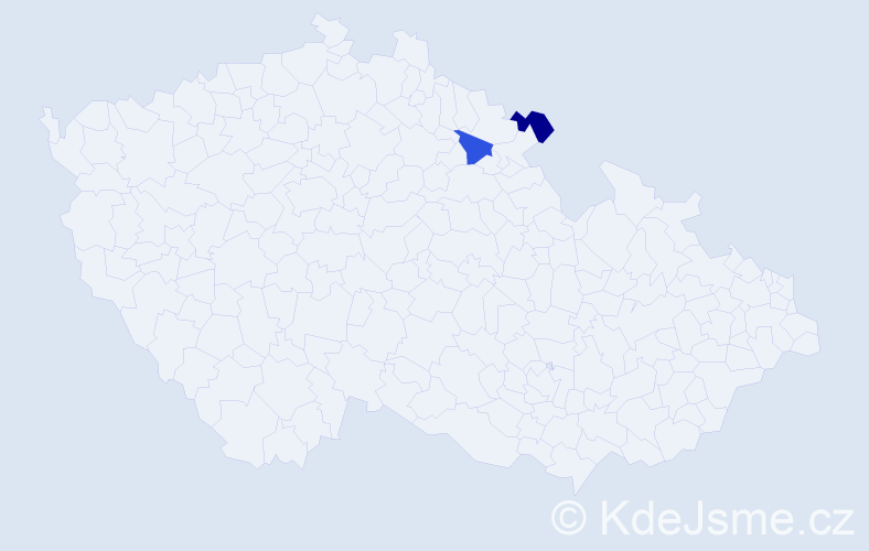 Příjmení: 'Kočlíková', počet výskytů 2 v celé ČR