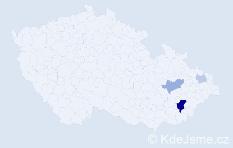 Příjmení: 'Baumbach', počet výskytů 6 v celé ČR
