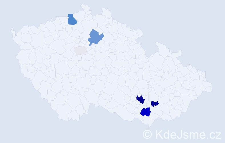 Příjmení: 'Fejfuša', počet výskytů 24 v celé ČR