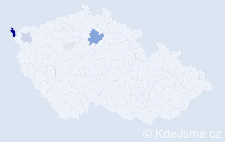 Příjmení: 'Cihi', počet výskytů 18 v celé ČR