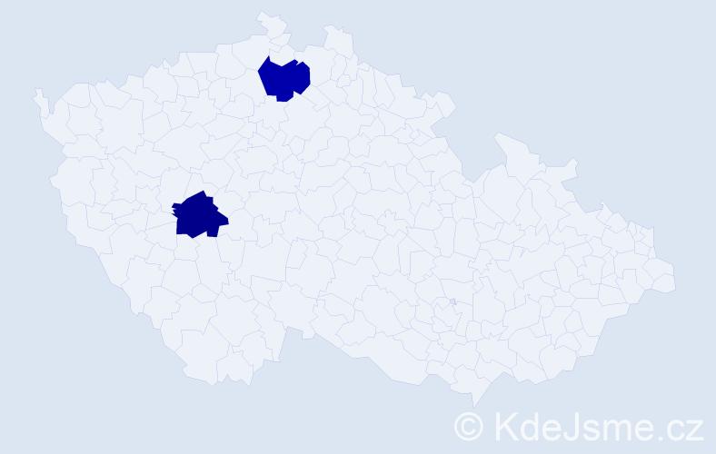 Příjmení: 'Grünermel', počet výskytů 2 v celé ČR