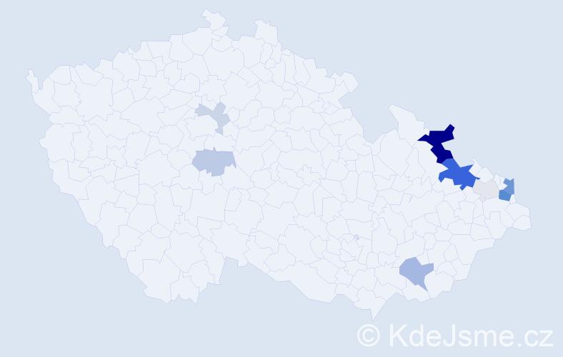 Příjmení: 'Kapera', počet výskytů 30 v celé ČR