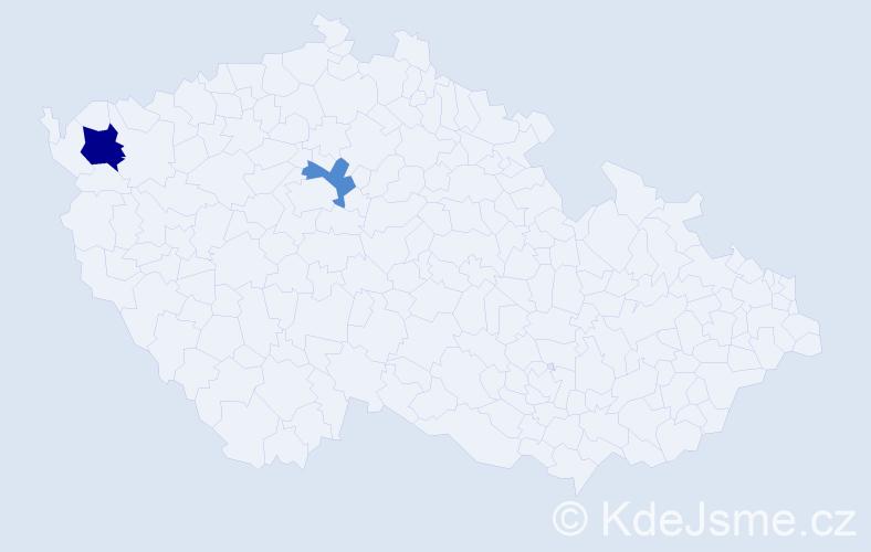 Příjmení: 'Manns', počet výskytů 3 v celé ČR