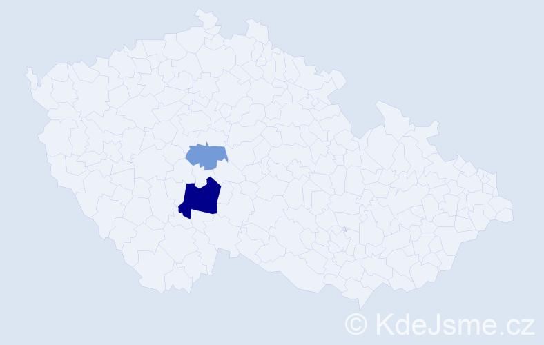 Příjmení: 'Eybertová', počet výskytů 5 v celé ČR