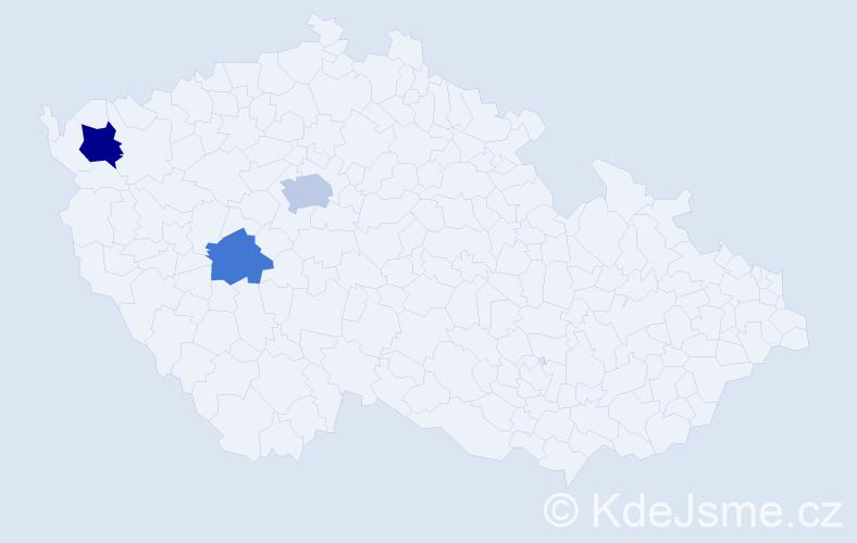Příjmení: 'Barteš', počet výskytů 5 v celé ČR