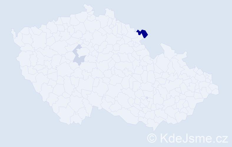 Příjmení: 'Halmel', počet výskytů 7 v celé ČR