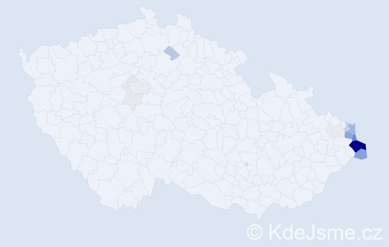 Příjmení: 'Lamaczová', počet výskytů 66 v celé ČR