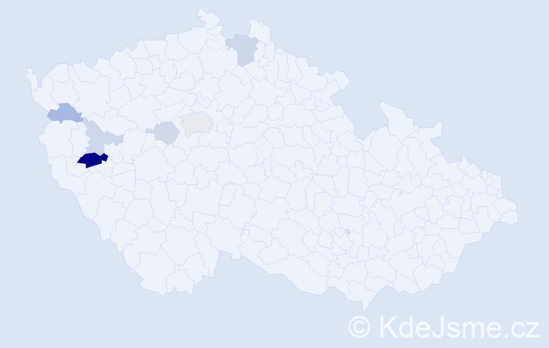Příjmení: 'Impseil', počet výskytů 14 v celé ČR