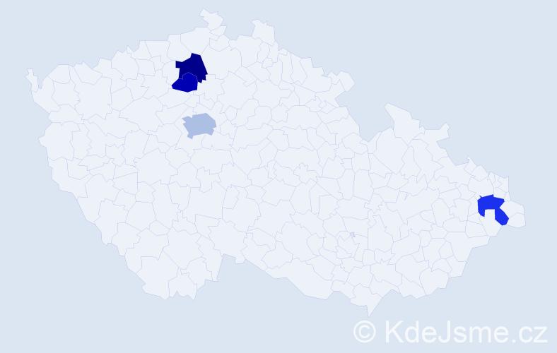 Příjmení: 'Birkáš', počet výskytů 8 v celé ČR