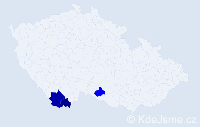 Příjmení: 'Kletschka', počet výskytů 4 v celé ČR