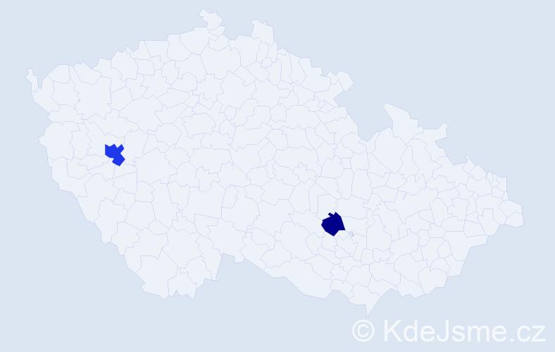 Příjmení: 'Königsmannová', počet výskytů 4 v celé ČR