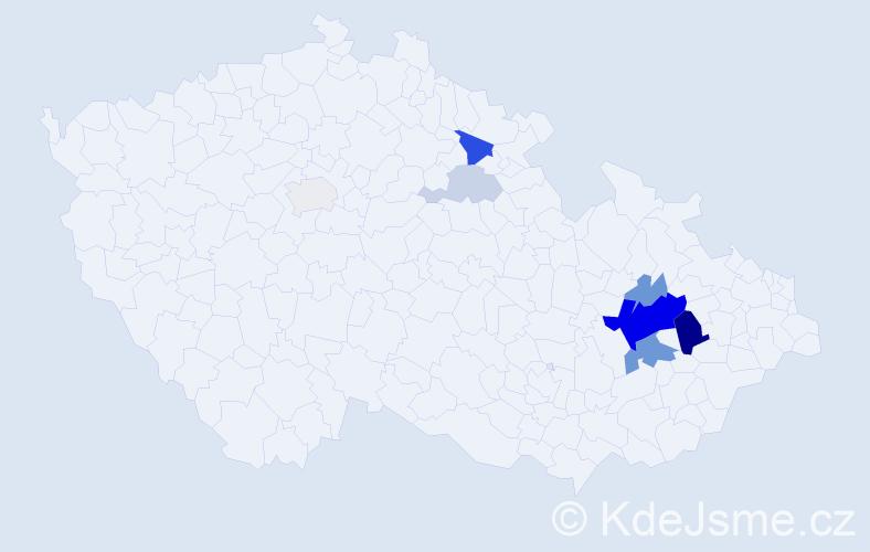 Příjmení: 'Gofroj', počet výskytů 23 v celé ČR