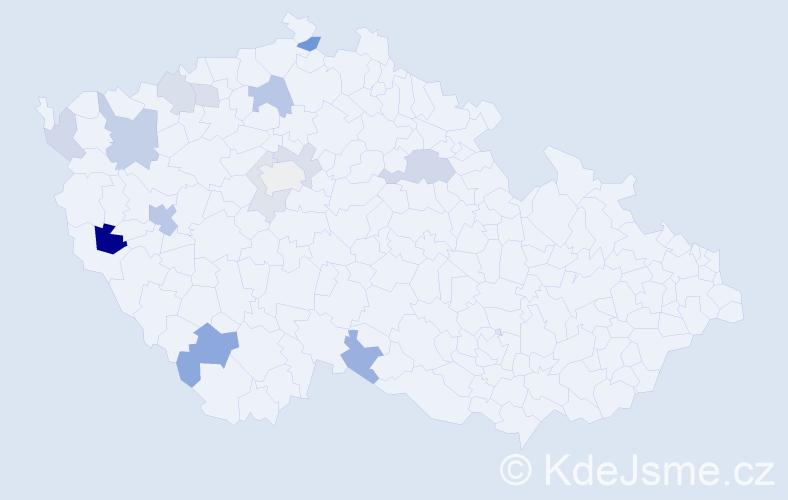 Příjmení: 'Birnerová', počet výskytů 25 v celé ČR